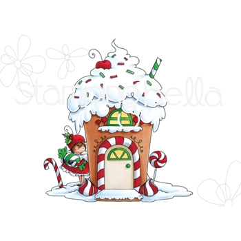 Stamping Bella Cling Stamp TEENY TINY TOWNIE GINGERBREAD HOUSE eb750