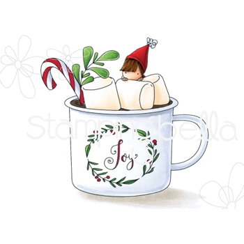 Stamping Bella Cling Stamp TEENY TINY TOWNIE HOT CHOCOLATE eb751