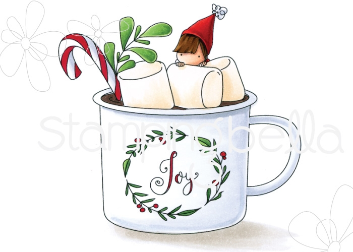 Stamping Bella Cling Stamp TEENY TINY TOWNIE HOT CHOCOLATE eb751 zoom image