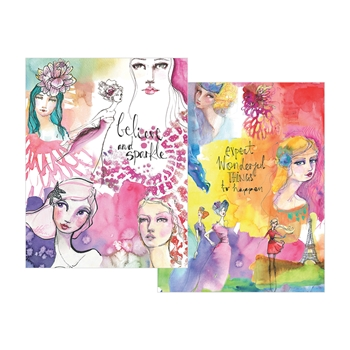JD-013 Spellbinders WASHI GIRLS Washi Sheets by Jane Davenport