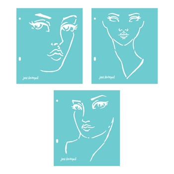 JD-018 Spellbinders GOOD FACE Stencils by Jane Davenport