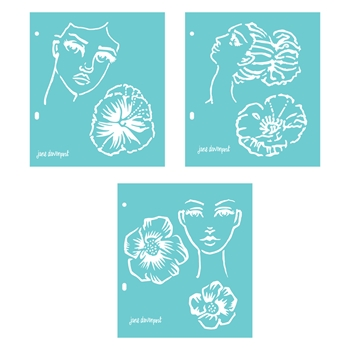 JD-017 Spellbinders FLOWER GIRL Stencils by Jane Davenport