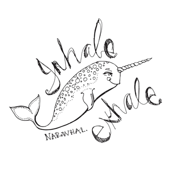 JDS-020 Spellbinders RELAXED NARWHAL Clear Stamps by Jane Davenport