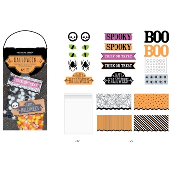 American Crafts HALLOWEEN TREAT BAGS KIT 379832