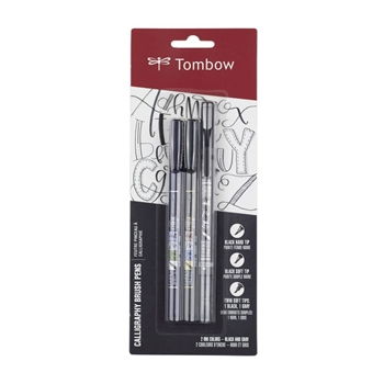 Tombow CALLIGRAPHY BRUSH PENS Fudenosuke 3 Pack 62039