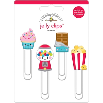 Doodlebug SO SWEET Jelly Clips Paper Clip Much Pun 6054