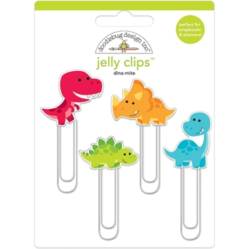 Doodlebug DINO-MITE Jelly Clips Paper Clip So Much Pun 6052