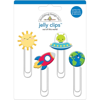 Doodlebug OUT OF THIS WORLD Jelly Clips Paper Clip So Much Pun 6051