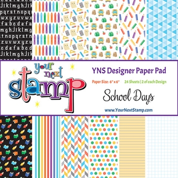 Your Next Stamp SCHOOL DAYS 6X6 Paper Pack ynspp024