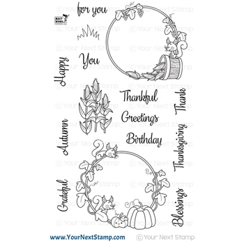 Your Next Stamp AUTUMN WREATHS Clear cyns665
