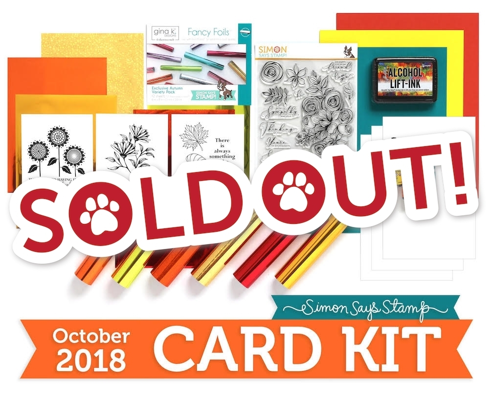 Simon Says Stamp Card Kit of The Month OCTOBER 2018 SKETCHED FLOWERS ck1018 zoom image