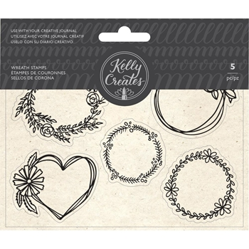 Kelly Creates WREATH Clear Stamps 348276