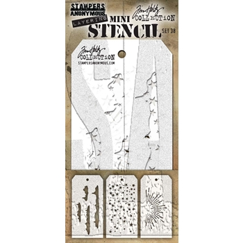Tim Holtz MINI STENCIL SET 38 MST038