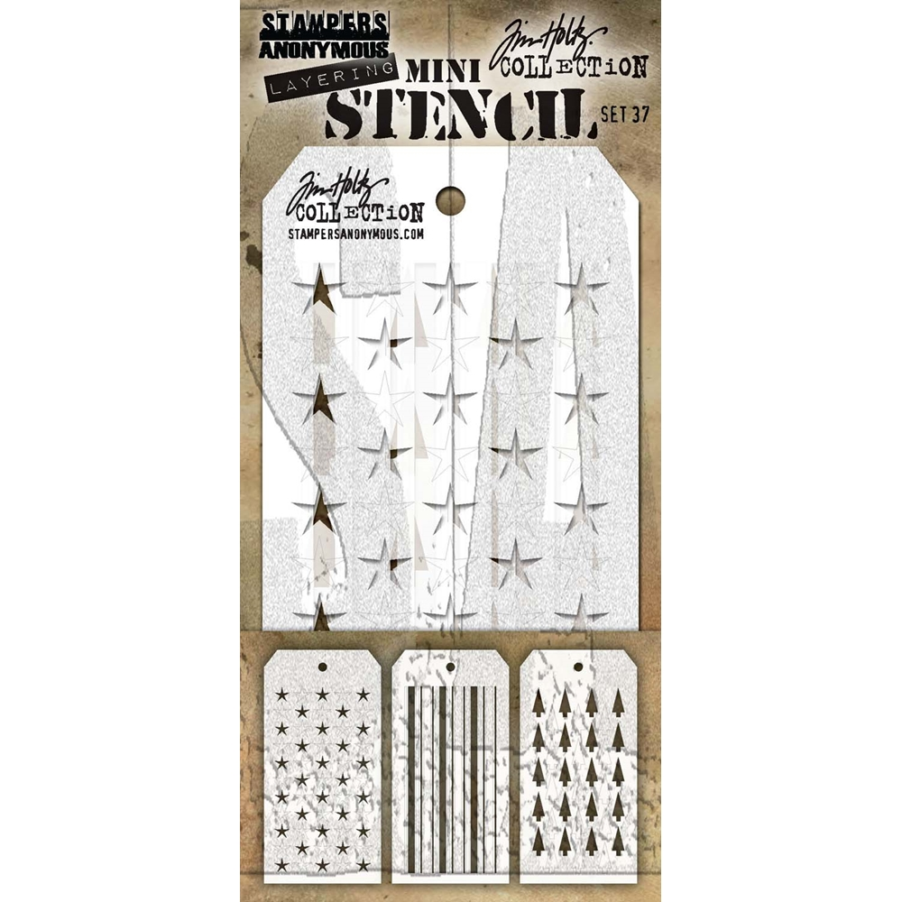 Tim Holtz Shifters MINI STENCIL SET 37 MST037 zoom image