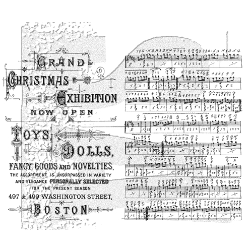 Tim Holtz Music and Advent Cling Stamps