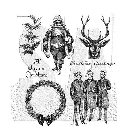 Tim Holtz Cling Rubber Stamps 2018 YULETIDE CMS356 Preview Image