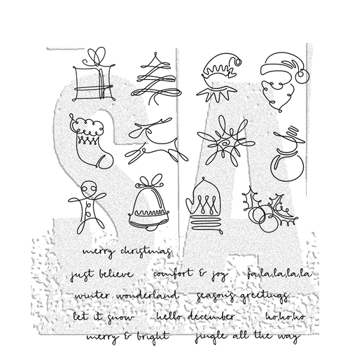 Tim Holtz Cling Rubber Stamps 2018 DECEMBER DOODLES CMS355 Preview Image