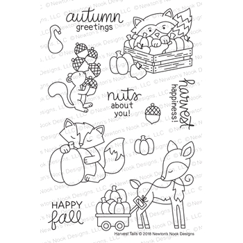 Newton's Nook Designs HARVEST TAILS Clear Stamps NN1809S03