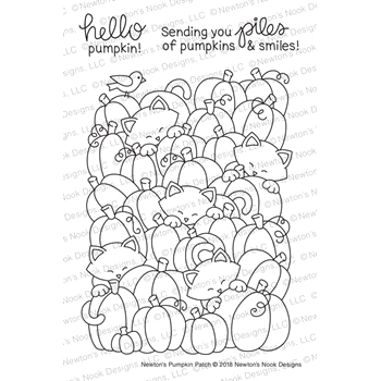 Newton's Nook Designs NEWTON'S PUMPKIN PATCH Clear Stamps NN1809S01