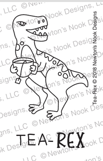 Newton's Nook Designs TEA REX Clear Stamps NN1809S06