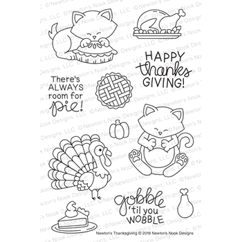 Newton's Nook Designs NEWTON'S THANKSGIVING Clear Stamps NN1809S02