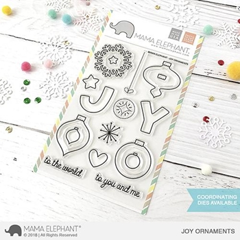 Mama Elephant Clear Stamps JOY ORNAMENTS
