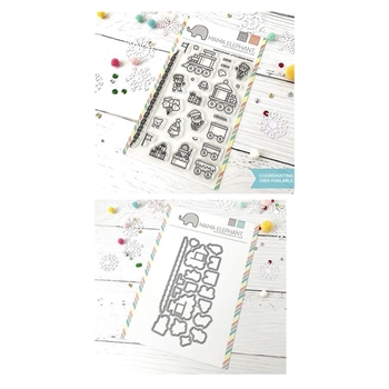 Mama Elephant Clear Stamp and Die MEPT518 Little Agenda Trains SET