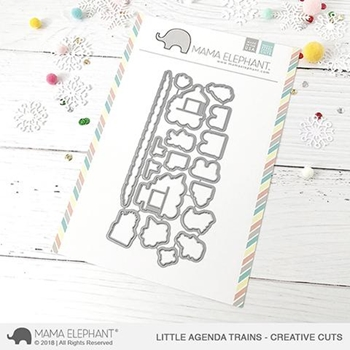 Mama Elephant LITTLE AGENDA TRAINS Creative Cuts Steel Dies