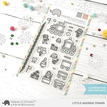 Mama Elephant Clear Stamps LITTLE AGENDA TRAINS