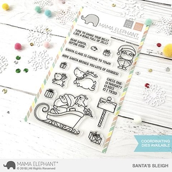 RESERVE Mama Elephant Clear Stamps SANTA'S SLEIGH