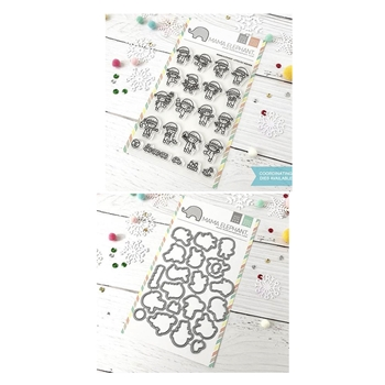 Mama Elephant Clear Stamp and Die MEPT521 Little Elf Agenda SET