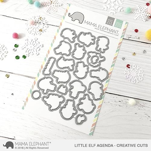 Mama Elephant LITTLE ELF AGENDA Creative Cuts Steel Dies Preview Image