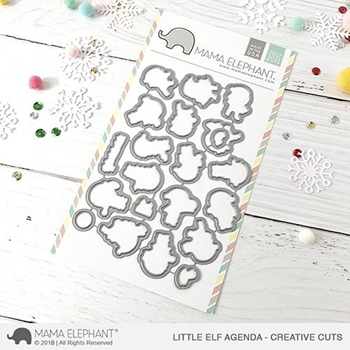 Mama Elephant LITTLE ELF AGENDA Creative Cuts Steel Dies