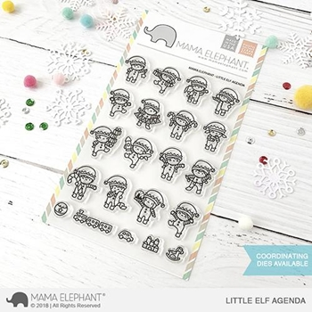 Mama Elephant Clear Stamps LITTLE ELF AGENDA