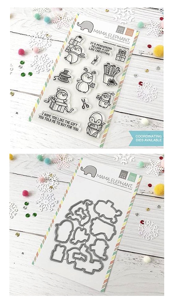 Mama Elephant Clear Stamp and Die MEPT512 Cool Penguins SET zoom image