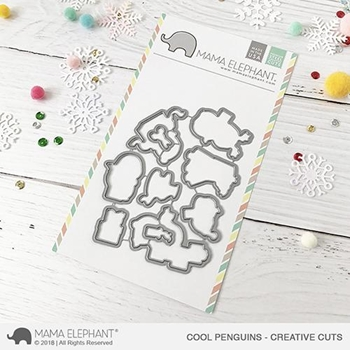 Mama Elephant COOL PENGUINS Creative Cuts Steel Dies