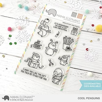 Mama Elephant Clear Stamps COOL PENGUINS