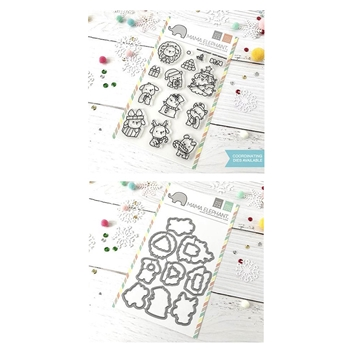 Mama Elephant Clear Stamp and Die MEPT533 Yappy Woofmas SET