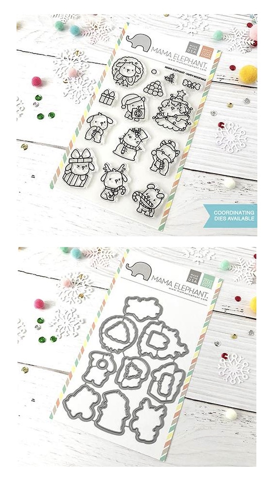 Mama Elephant Clear Stamp and Die MEPT533 Yappy Woofmas SET zoom image