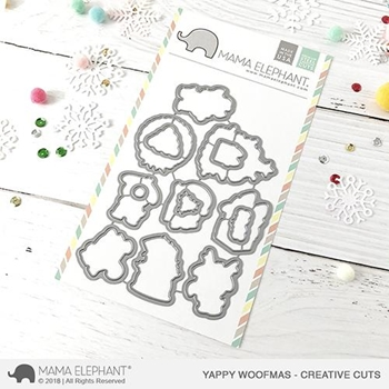 Mama Elephant YAPPY WOOFMAS Creative Cuts Steel Dies
