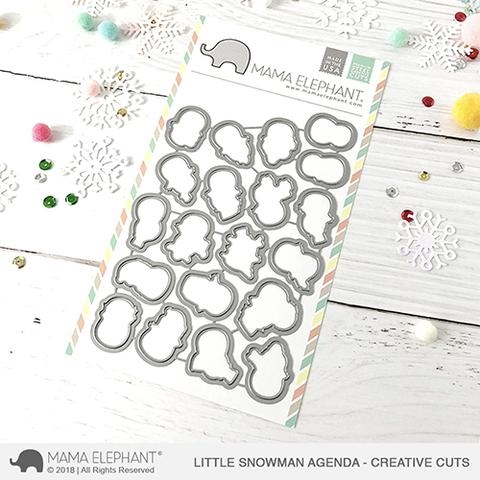 Mama Elephant LITTLE SNOWMAN AGENDA Creative Cuts Steel Dies Preview Image