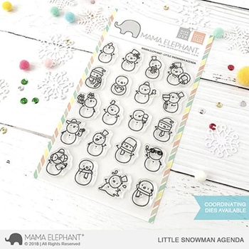 Mama Elephant Clear Stamps LITTLE SNOWMAN AGENDA
