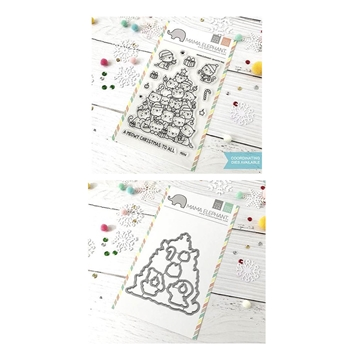 RESERVE Mama Elephant Clear Stamp and Die MEPT530 Oh Kitty Tree SET