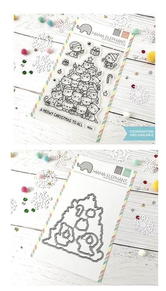 Mama Elephant Clear Stamp and Die MEPT530 Oh Kitty Tree SET zoom image
