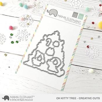 Mama Elephant OH KITTY TREE Creative Cuts Steel Dies
