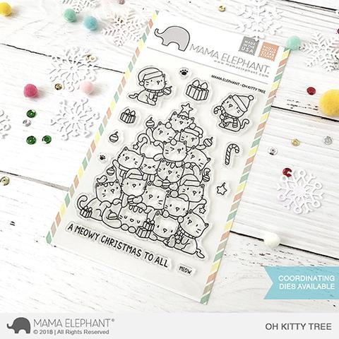 Mama Elephant Clear Stamps OH KITTY TREE Preview Image