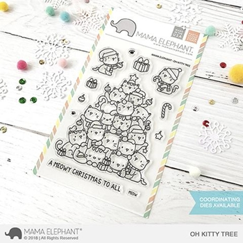 RESERVE Mama Elephant Clear Stamps OH KITTY TREE