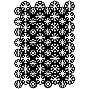 Creative Expressions SNOWFLAKE CLUSTER A5 Stencil cest021