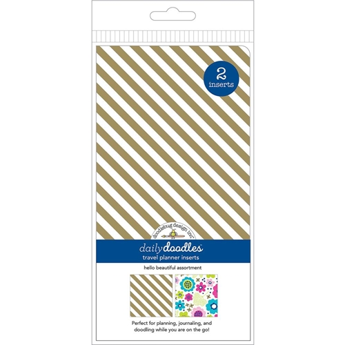 Doodlebug HELLO BEAUTIFUL GRID AND DOT Travel Planner Inserts Daily Doodles 6012 Preview Image