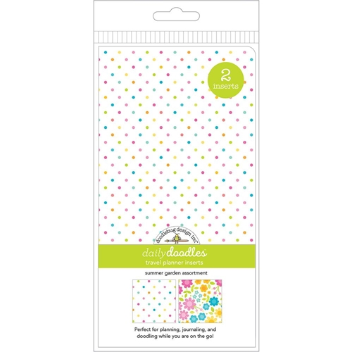 Doodlebug SUMMER GARDEN GRID AND DOT Travel Planner Inserts Daily Doodles 6011 Preview Image